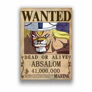 Boutique One Piece Avis de Recherche 30X21cm Avis De Recherche Absalom Wanted