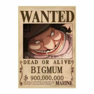 Boutique One Piece Avis de Recherche 42X30cm Avis De Recherche Big Mom Wanted