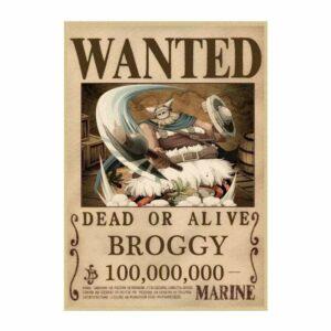 Boutique One Piece Avis de Recherche 42X30cm Avis De Recherche Broggy Wanted