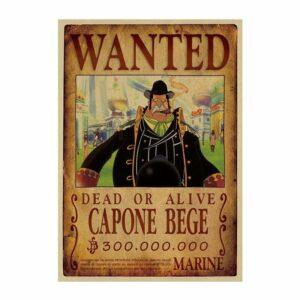 Boutique One Piece Avis de Recherche Avis De Recherche Capone Bege Wanted