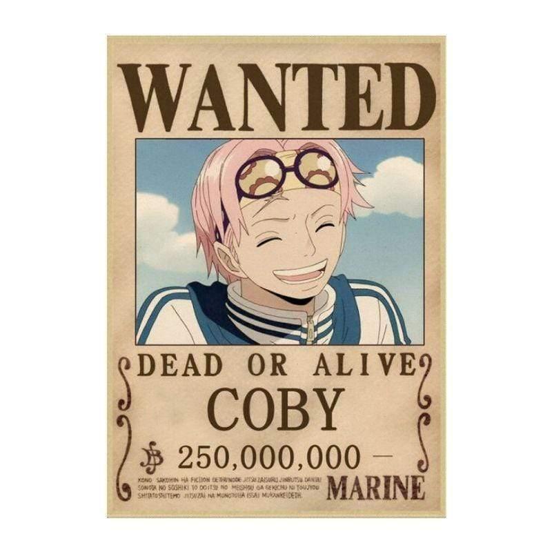Boutique One Piece Avis de Recherche 42X30cm Avis De Recherche Coby Wanted
