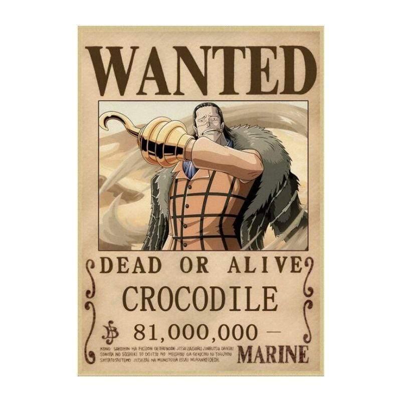 Boutique One Piece Avis de Recherche 42X30cm Avis De Recherche Crocodile Wanted