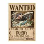 Boutique One Piece Avis de Recherche 42X30cm Avis De Recherche Dorry Wanted