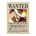 Boutique One Piece Avis de Recherche 42 X 30 cm Avis de Recherche One Piece Edward Newgate Wanted