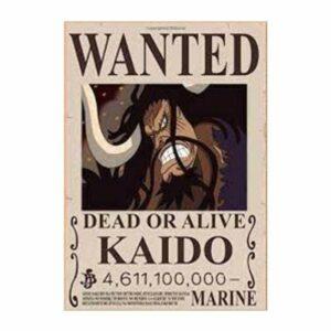 Boutique One Piece Avis de Recherche 30 x 21 cm Avis de Recherche One Piece Kaido Wanted