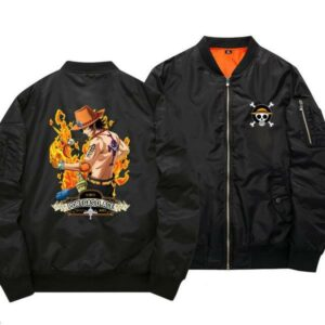 Boutique One Piece Bomber S Bomber One Piece Ace Au Poing Ardent