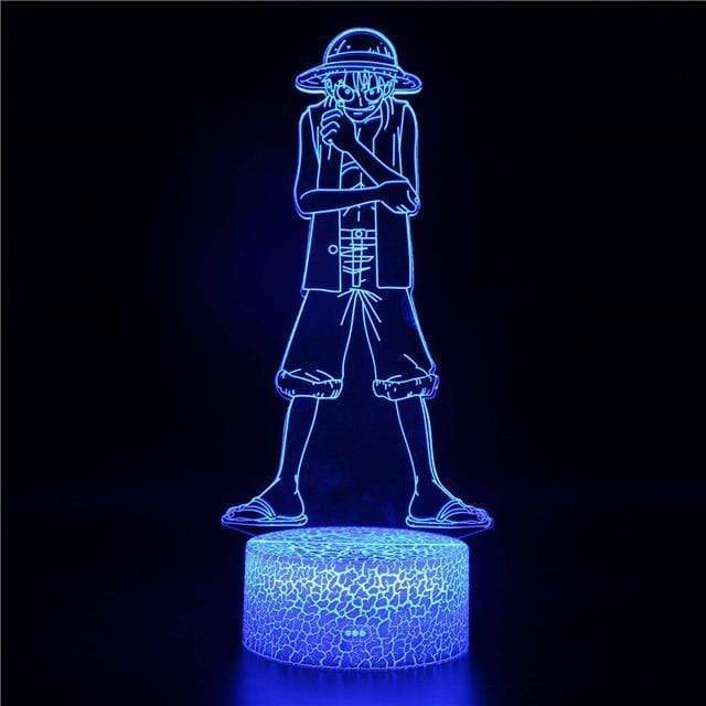 Boutique One Piece Lampe One Piece Lampe Led 3D One Piece Luffy Capitaine Des Mugiwara
