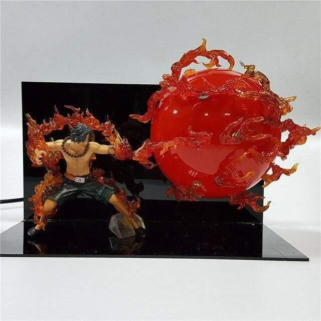 Boutique One Piece Lampe One Piece Grosses Flammes Lampe One Piece Portgas D Ace Boule de Feu