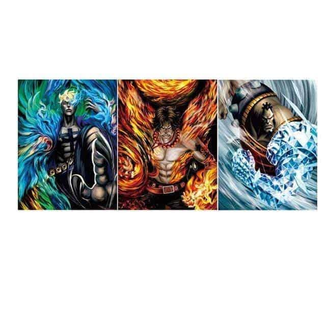 Boutique One Piece Poster Lot 3 Poster One Piece Les Commandant De La Flotte De Barbe Blanche