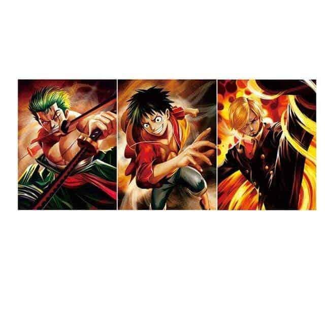 Boutique One Piece Poster Lot De 3 Poster One Piece Le Monster Trio Des Chapeaux De Paille