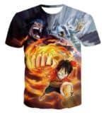 Boutique One Piece T-shirt xs Maillot Imprimé One Piece Barbe Noire, Aokiji, Luffy