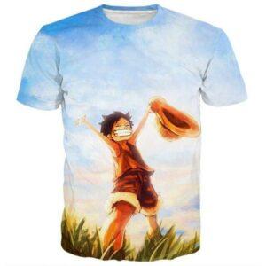 Boutique One Piece T-shirt xs Maillot Imprimé One Piece Luffy Au Chapeau De Paille Enfant