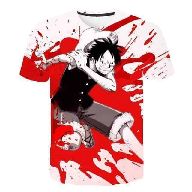Boutique One Piece T-shirt 3XL One Piece T shirt Gomu Gomu Luffy