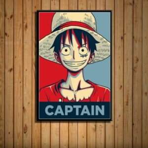 Boutique One Piece Poster 35 X 50 cm Poster One Piece Capitaine Monkey D Luffy