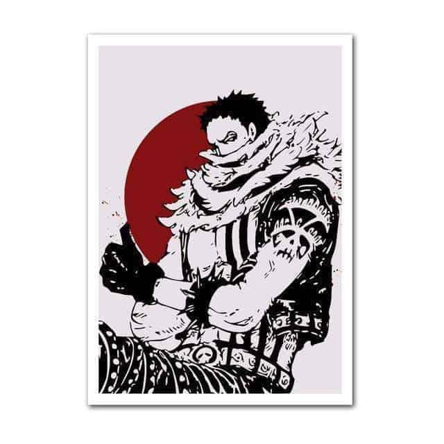Boutique One Piece Poster 30x42cm Poster One Piece Charlotte Katakuri Et La Lune De Sang