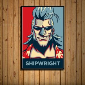 Boutique One Piece Poster 21X30cm Poster One Piece Charpentier Franky