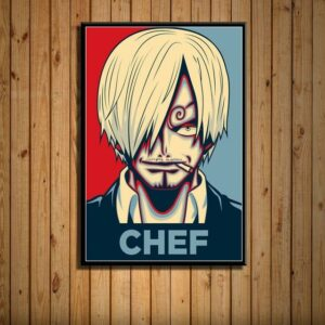 Boutique One Piece Poster 21 X 30cm Poster One Piece Chef Cuisinier Sanji