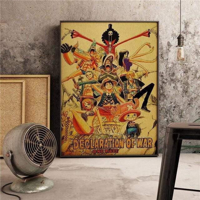 Boutique One Piece Poster 55 x 80 cm Poster One Piece L'Equipage Au Chapeau De Paille Declare La Guerre