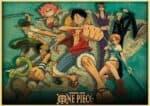 Boutique One Piece Poster 30X42cm Poster One Piece l'Équipage du Chapeau de Paille