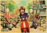 Boutique One Piece Poster 12x20cm Poster One Piece l'Équipage du Chapeau de Paille Font du Scotter