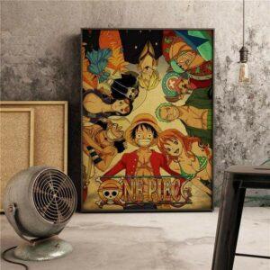 Boutique One Piece Poster 55x80cm Poster One Piece Les Mugiwara Du Nouveau Monde