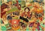 Boutique One Piece Poster 12x20 cm Poster One Piece Les Vacances De l'Équipage du Chapeau de Paille