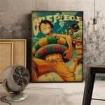 Boutique One Piece Poster 35X50cm Poster One Piece Luffy a La Plage