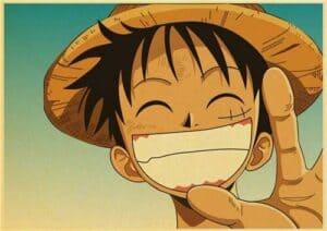Boutique One Piece Poster 50x70cm Poster One Piece Luffy Avec Un Grand Sourire