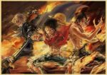 Boutique One Piece Poster 12x20cm Poster One Piece Luffy, Sabo et Ace