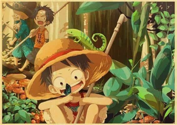 Boutique One Piece Poster 12x20cm Poster One Piece Luffy Sabo et Ace Enfants