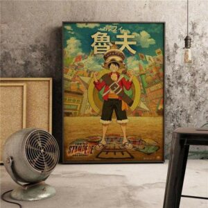 Boutique One Piece Poster 55x80cm Poster One Piece Monkey D Luffy Stampede