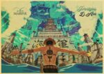 Boutique One Piece Poster 12x20 cm Poster One Piece Portgas D Ace à Marine Ford