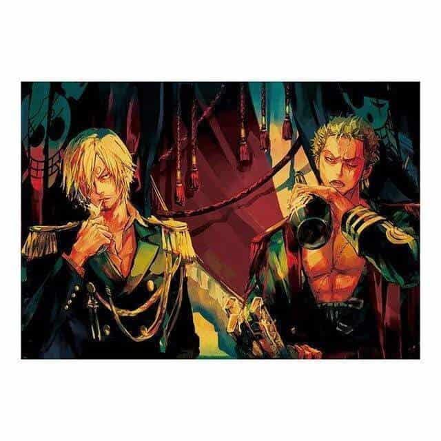 Boutique One Piece Poster Poster One piece Roronoa Zoro Et Vinsmoke Sanji