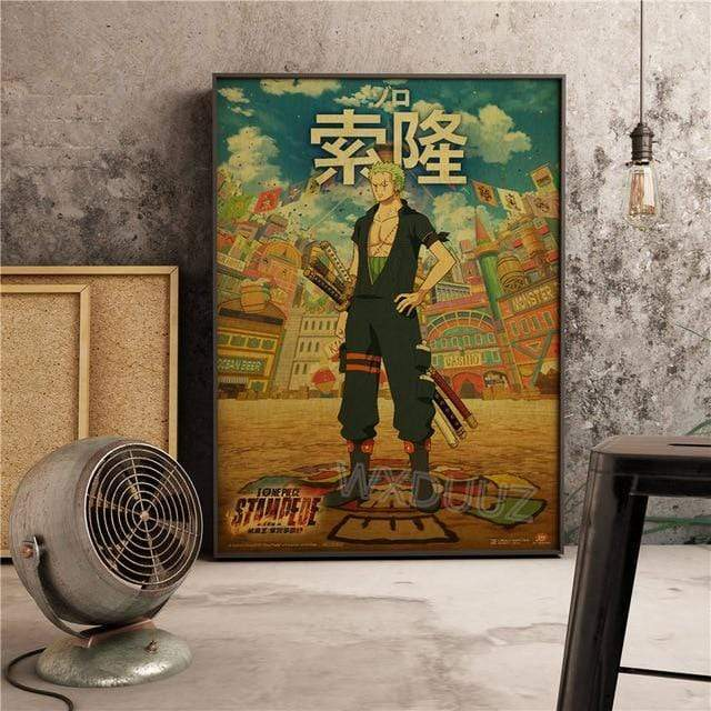 Boutique One Piece Poster 30X42cm Poster One Piece Roronoa Zorro