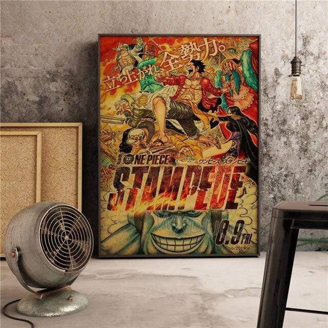 Boutique One Piece Poster 12x20cm Poster One Piece Stampede L'Assaut Des Pirates
