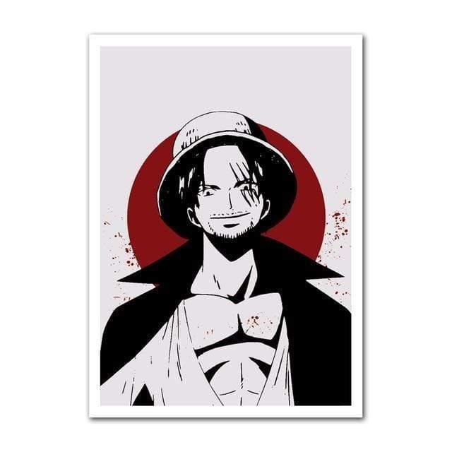 Boutique One Piece Poster 38x50cm Poster One Piece Un Des 4 Empereurs Shanks Et La Lune De Sang