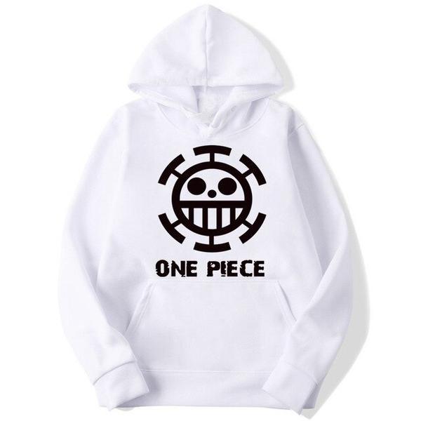 Onepiece-Shops Pull Blanc / s Pull à Capuche One Piece Trafalgar Low