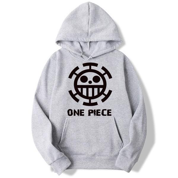 Onepiece-Shops Pull Gris / s Pull à Capuche One Piece Trafalgar Low
