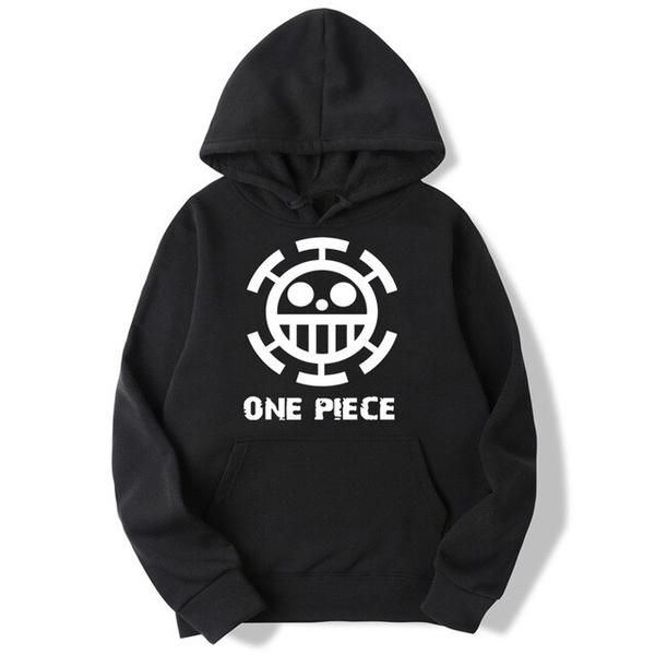 Onepiece-Shops Pull Noir / xxl Pull à Capuche One Piece Trafalgar Low