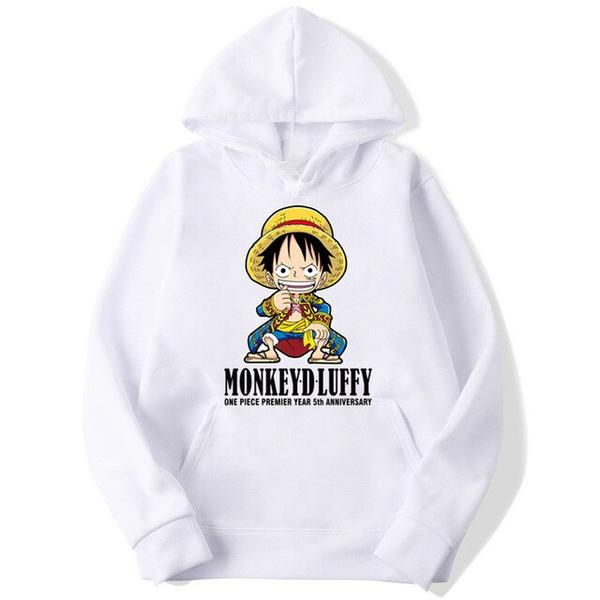 Onepiece-Shops Pull Blanc / s Pull  One Piece Mini Monkey D. Luffy