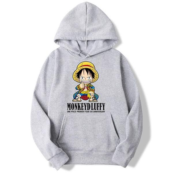 Onepiece-Shops Pull Gris / s Pull  One Piece Mini Monkey D. Luffy