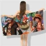 Boutique One Piece Serviette 50x100cm Serviette One Piece Law Chopper Et Luffy