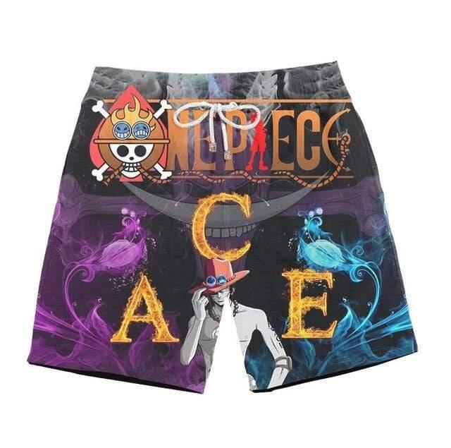 Boutique One Piece Short de Bain xxs Short de Bain One Piece Ace Mera Mera No Mi