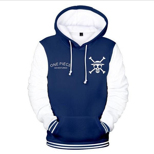 Boutique One Piece Sweat XXS Sweat One Piece Bleu et Blanc