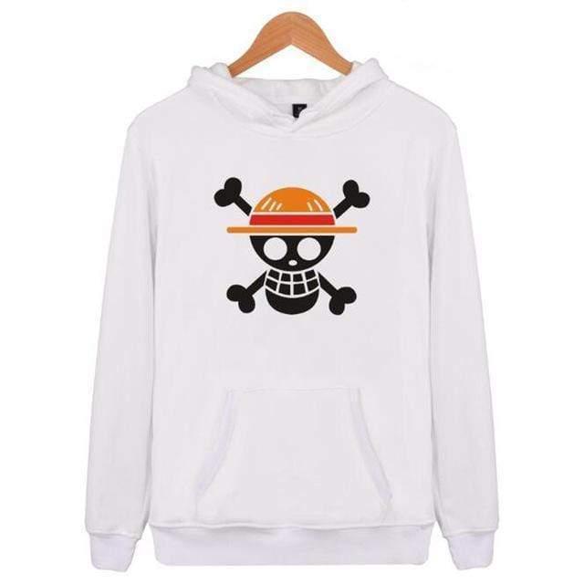 Boutique One Piece Sweat Blanc / XXS Sweat One Piece Jolly Roger Luffy