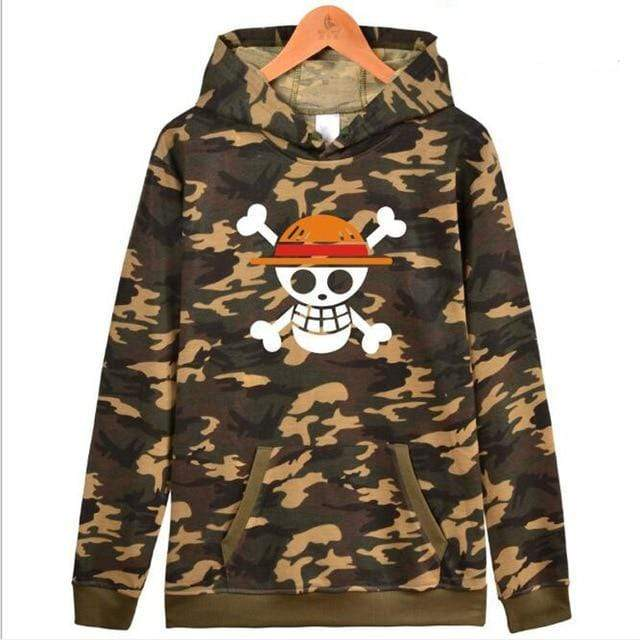 Boutique One Piece Sweat Militaire / XXS Sweat One Piece Jolly Roger Luffy