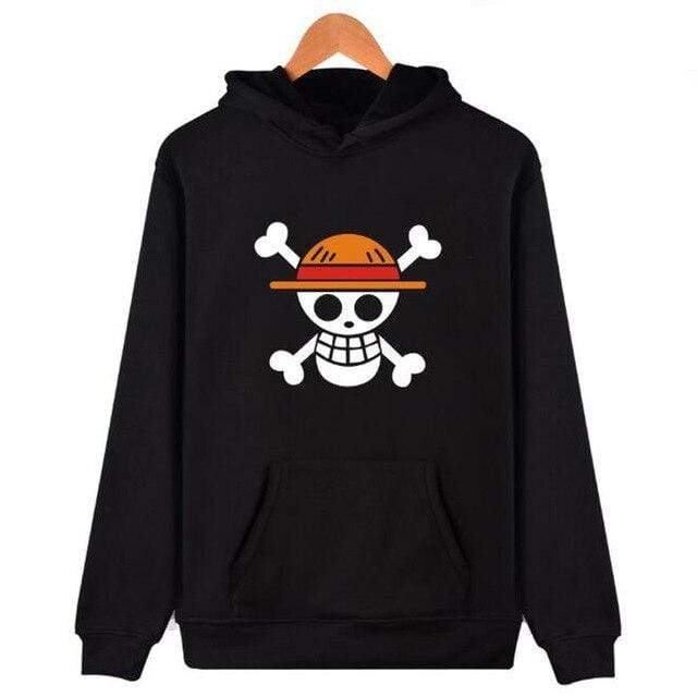 Boutique One Piece Sweat Noir / XXS Sweat One Piece Jolly Roger Luffy