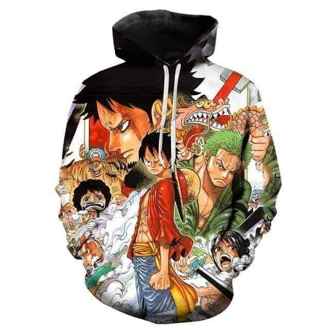 Boutique One Piece Sweat S Sweat One Piece La Bataille de Wano se Prépare