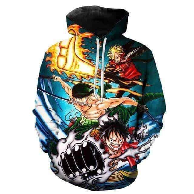 Boutique One Piece Sweat L Sweat One Piece Le Combo du Monster Trio