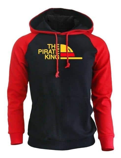 Boutique One Piece Sweat Rouge Noir / XL Sweat One Piece Le Roi des Pirates